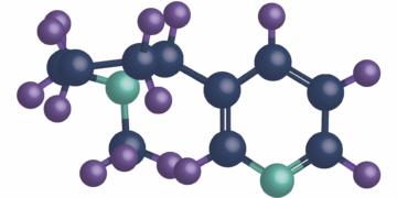 frontage tobacco Nicotine molecule